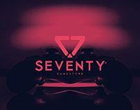 Seventy Gamestore Project 4, Logos, Darth Vader, Neon Signs, Fictional Characters, Overhead Press, Visual Identity, Corporate Design, Logo