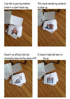 Visual Necklaces for Teachers and Paraprofessionals in Autism Classroom.