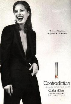I think I've worn every Calvin Klein perfume over the years, Contradiction was another one, but I think Eternity was my favorite: Contradiction by Calvin Klein with Christy Turlington (1997).
