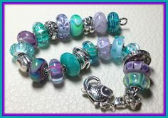 My current project from a very color savvy collector! This is the kind of inspiration you will find on Trollbeads Gallery Forum! http://trollbeadsgalleryforum.ning.com/ Join us!!!