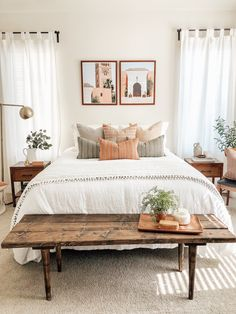 Room Ideas Bedroom, Home Bedroom, Bright Bedroom Ideas, Bedroom Decorating Ideas, Target Bedroom, Urban Bedroom, Airy Bedroom, Simple Bedroom Decor, Art For Bedroom