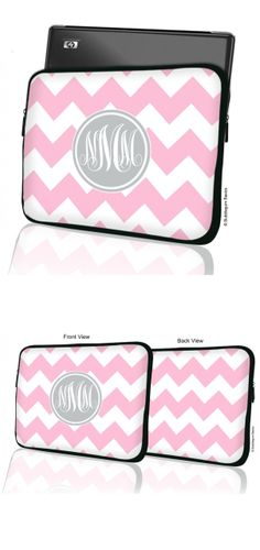 Bold Chevron #Monogram #MacBook #Laptop Sleeve --- Made of high quality and soft neoprene (wetsuit material) --- Carry your MacBook or laptop in style with these colorful sleeves!...More... http://www.bubblegumbasics.com/bold-chevron-monogram-laptop-sleeve.html