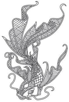 Doodle Koi design