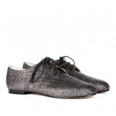 "Glitter Oxfords-i have these...""my MJ dancing shoes""..way better than heels!"