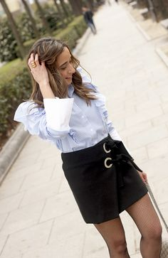 Ruffled Striped Shirt | BeSugarandSpice - Fashion Blog