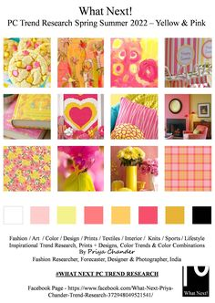"""Used idea for """"Pink Yellow Bees"""" Color Trends, Design Trends, Mother's Day Banner, Mini Mo, Fashion Forecasting, Fashion Images, Trendy Colors, Color Card, Spring Colors"""