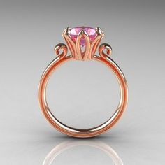 pink engagement ring (side view). How sweet is that?