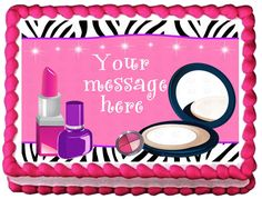 "MAKE+UP+Ladies+Edible+image+cake+Topper+1/4+sheet+(10.5""+x+8"")"