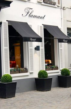 Flamant shop, Bruxelles. The canopies and planters make all the difference.