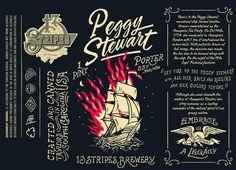 Creative Packaging, Peggystewart, and Label image ideas & inspiration on Designspiration Beer Packaging, Food Packaging Design, Packaging Design Inspiration, Brewery Design, Beer Label Design, Label Image, Graphic Design Fonts, Beer Art, Beer Brands