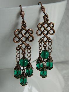 CELTIC DANCE - dangle earrings by Changing Seasons. $25.00, via Etsy.