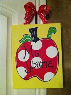 Nice teacher gift idea, but would like the name along the bottom.