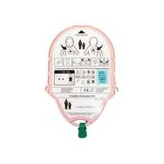A single-cartridge with a four-year shelf life houses the AED electrodes and batteries.   The Pediatric-Pak, pink in color, is suitable for use on children younger than eight years of age weighing less than 55 lbs.   The HeartSine PAD's built-in intelligence and unique Pediatric Pad-Pak ensure the appropriate energy level is delivered for children.   An Adult Pad-Pak is available for adults and children weighing 55 lbs and over.