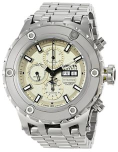 Men's Wrist Watches - Invicta Mens 12920 Subaqua Analog Display Swiss Automatic Silver Watch * Check out this great product. (This is an Amazon affiliate link)