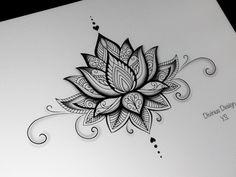 Lotus Mandala Tattoo Design and Stencil/Template - Instant Digital Mandala Tattoo Design, Lotus Mandala Tattoo, Flower Tattoo Designs, Lotus Flower Mandala, Lotus Mandala Design, Lotus Flower Tattoos, Lotus Tattoo Back, Black Lotus Tattoo, Sun Mandala