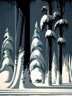 Eyvind Earle : animateur, artiste, auteur et illustrateur américain, engagé par les Studios Disney en tant qu'artiste pour les décors. Peter Pan (1953), La Belle et le Clochard (1955) et La Belle au bois dormant (1959)