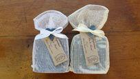 emballage de savon en tarlatane