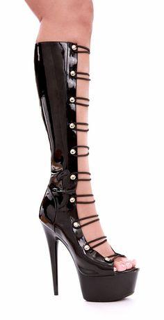 Vicky 02 Stretch Red Patent Platform Thigh Boots 6 inch Stiletto Heel UK 6 EU 39
