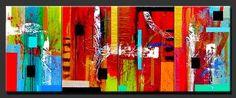"Abstract Paintings, Contemporary Paintings, Abstract Art, Contemoporary Art, Modern Art  ""A Vibrant World"" by Artist Dora Woodrum http://www.NiceModernArt.com"