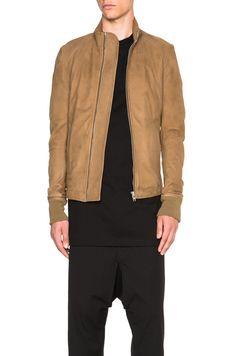 RICK OWENS Intarsia Leather Jacket. #rickowens #cloth #