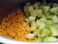 Chow chow kootu / chayote kootu recipe - a delicious South Indian style recipe of chayote and yellow moong lentils with coconut and spices. Urad Dal Recipes, Kootu Recipe, Chayote Squash, Curry Leaves, Chow Chow, Pressure Cooking, Lentils, Indian Food Recipes, Cooker