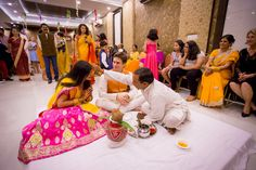 The traditional ceremony of applying Sindoor
