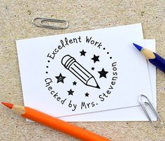 Personalized Teacher Stamp, Self Inking Stamp, Custom Teacher Rubber Stamp, Excellent Work Teacher Stamp, Personalized Stamp, Teaching kids