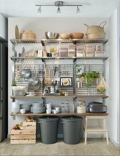 IKEA KUNGSFORS Riel susp+balda rejilla prd Ac inox fresno Te proporciona un  espacio adicional de trabajo y para guardar cosas en la cocina. e3ee85d8c8ce