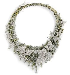 Boucheron 'Perle au Tresor' necklace; brute and white diamonds.