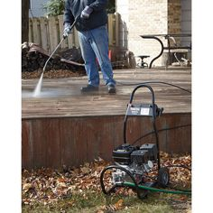 This Ironton® Gas Cold Water Pressure Washer is an all-around cleaner that is ideal for cleaning decks, driveways, siding, lawn mo. Fall Clean Up, Pressure Washers, Driveways, Top Rated, Decks, Lawn, Cleaning, Cold, Nice