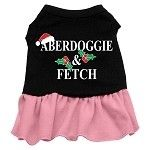 Check out all of our products on our website!    Aberdoggie Christmas Screen Print Dress For Pet Dog    www.dazzlemydog.com
