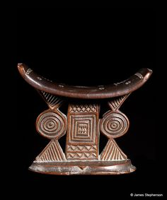 Africa |  Shona Headrest from Zimbabwe.  | 19th century.  made from carved wood