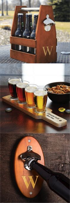 Deck out your home bar with these awesome personalized beer products. Perfect as a unique and original gift idea for a housewarming, birthday, or even as a groomsmen or best man gift. | Made on Hatch.co by makers who care.