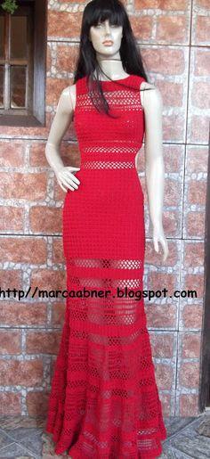 Marcinha crochet: CROCHET DRESS SABRINA SATO LONG