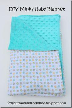 DIY Minky Baby Blanket