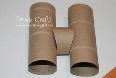 Doodle Craft...: Spy Gear Binoculars! Little Boy Crafts!