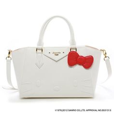 Samantha Thavasa Vega x Hello Kitty Azayle Tote Shoulder Bag White Large JAPAN