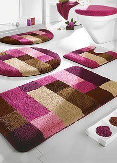 Image result for conjunto tapete para banheiro em agulha magica