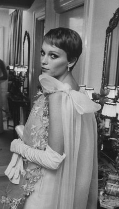 Actress Mia Farrow, a.k.a., Mrs. Frank Sinatra, ready for a night out in New York in 1967. See more: http://ti.me/ILF7lc (Bill Eppridge—Time & Life Pictures/Getty Images)