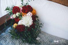 CBR212 Wedding riviera maya red Cascading bouquet/ bodas riviera maya ramo de cascada rojo y blanco