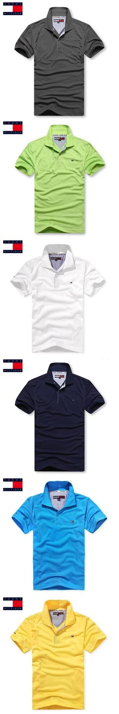 TOMMY HILFIGER High Quality Top&Tees Solid color Men Polo Embroidery Poloshirt Casual Polo Shirts men's brand