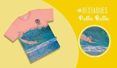 #DestaquesPullaBulla Cheia de estilo e paixão, essa camiseta Pulla Bulla é perfeita para um look moderno e descontraído! <3 Confeccionada em meia malha fio penteado, garante conforto e liberdade de movimentos para o seu filho se divertir muito! Com sua estampa incrível de um surfista pegando uma onda, vai estimular a imaginação e despertar paixões por esportes em seu menino! Ele vai amar essa camiseta 😍 *Disponível também nas cores branco, verde e azul.