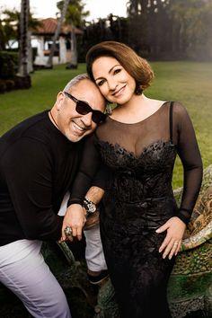 Emilio and Gloria Estefan at their home on Star Island, Miami.