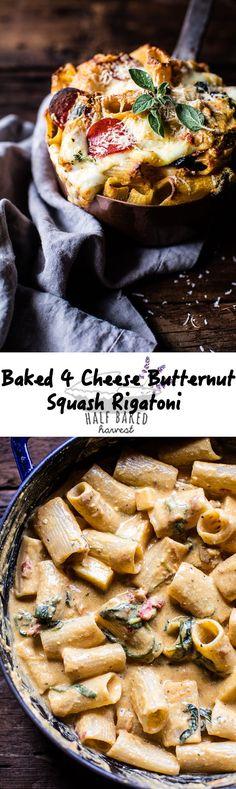 Baked 4 Cheese Butternut Squash Rigatoni | http://halfbakedharvest.com /hbharvest/
