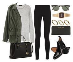 """Style #11368"" by vany-alvarado ❤ liked on Polyvore featuring Balenciaga, The Row, MICHAEL Michael Kors, Ray-Ban, Made and Casio"