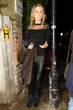 Tv Presenters Uk, Sexy Older Women, Sexy Women, Sexy Outfits, Sexy Dresses, Charlotte Hawkins, Leather Trousers, Celebs, Celebrities