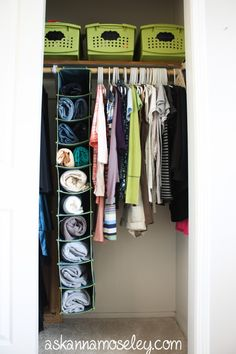 Organized closet.  Tips for creative storage solutions -- Ask Anna