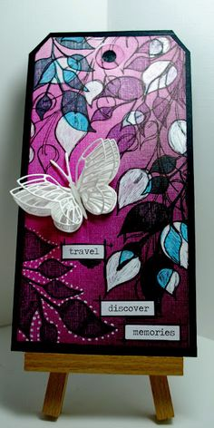Eileen's Crafty Zone: PanPastel 'Dark Tints' and Dylusions Stamps.