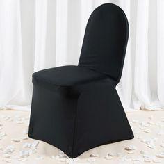 Premium Black Spandex Banquet Chair Covers With Chair Foot Pockets Folding Chair Covers, Banquet Chair Covers, Black Chair Covers, Black Tablecloth, Spandex Chair Covers, Chair Sashes, Wedding Chairs, Trade Show, Women