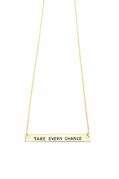 Take Every Chance | Wearable Mini-Mantras, Stamped for the Soul | Pick Your Positivity at LoveRewritten.com